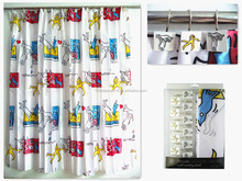 intresting design with Personality hook colourful curtain