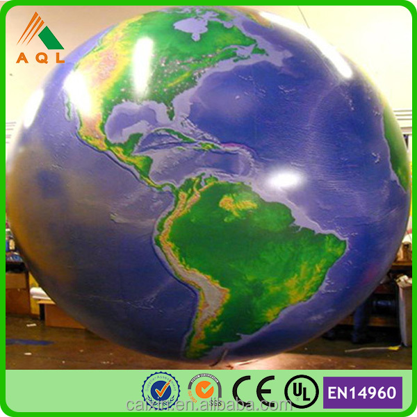 good price red advertising hot air balloon, inflatable air globe balloon