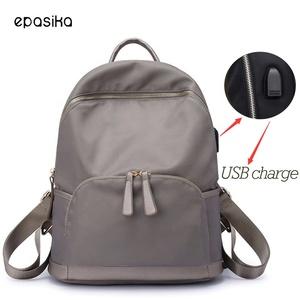 efa53bc078eb Multifunctional custom put logo women travel rucksack hiking camping back  pack waterproof polyester nylon usb charger