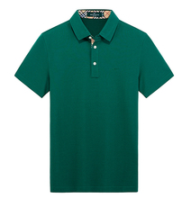 Fashion OEM High Quality Mens T-Shirt Custom Organic 100% Cotton Plain Dyed Polo T Shirt