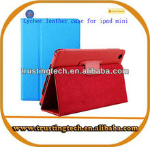 Lychee pattern with stand cover lychee flip Leather Case for 7 inch tablet PC