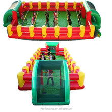 Inflatable human foosball, adult interactive game