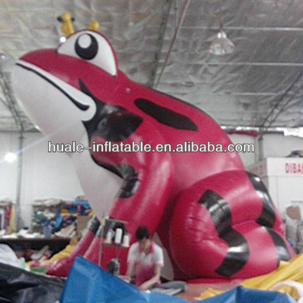 2014 Hot selling inflatable cartoons advertising inflatable giant frog