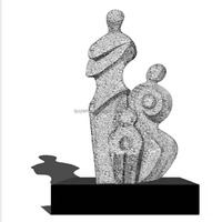 Marble Granite Abstract Family Statue Sculpture