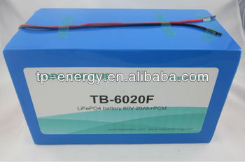 New Arrival Hot Selling Rechargeable Bike Battery 60V20Ah with BMS/PCM & Charger