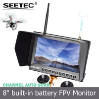 "8"" lcd tft monitor fpv ground station screen dual antennas 5.8ghz 32 channels wifi control quadcopter"