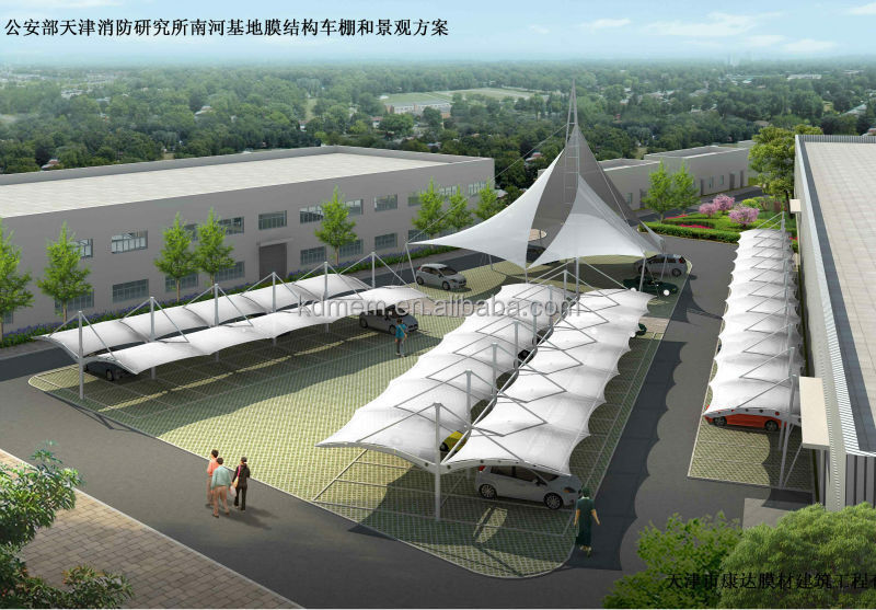 Tensile Fabric Structure Car Parking Shed