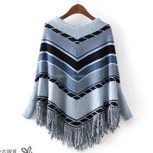 high quality custom thin cotton spring autumn poncho sweater