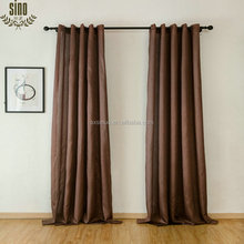 solid color panel faux silk top grommet curtain for home