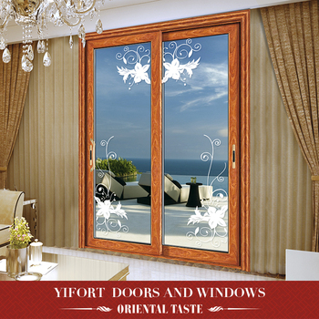 hot sell living room Aluminum two panel sliding glass door