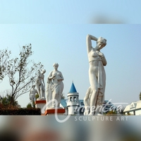 Large garden decor hand carved beautiful marble life size nude statues for sale