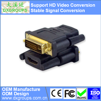 DVI-D (24+1) Male to HDMI Female Adapter ( HD Video Conversion ) For Projector Monitor HDTV Laptop