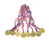 Children Gold Plastic Winners Medals Sports Day Party Bag Prize