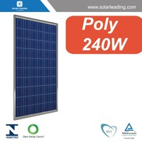 36V 240W Poly solar panels solar PV modules with high efficiency, with long term warranty