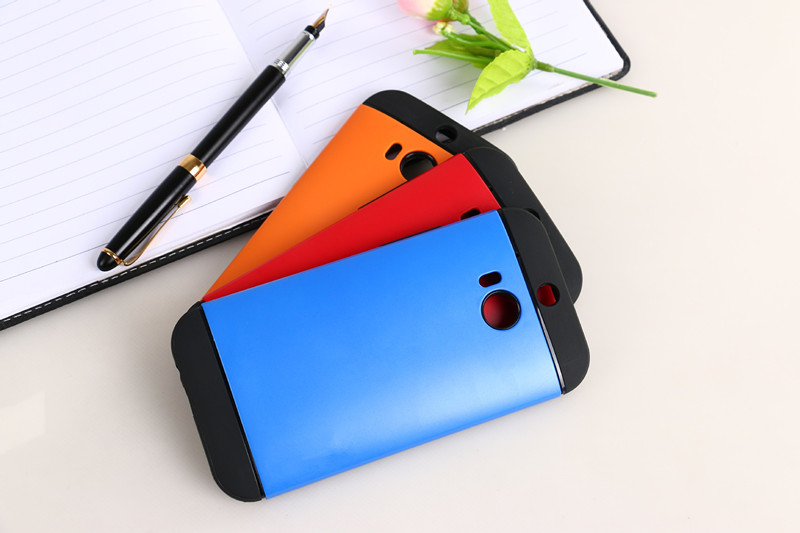 2 IN 1 TPU + PC Slim Armor Back Cover Case For HTC One M8