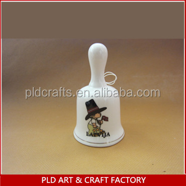 Cute Hand-Painted Ceramic Souvenirs Bell