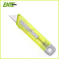 Small Plastic Knife Cutter Knife Transparent Plastic Utility Knife