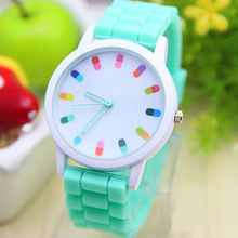 promotional new style Geneva silicone jelly watches ladies pocket watch