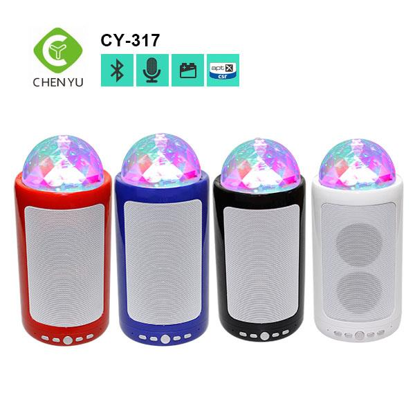 2016 latest fashionable cylindrical style disco light BT speaker for all Bluetooth devices