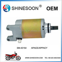 New electric motorcycle starter motor , 12v starter motor model APACE/APPACY
