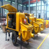 trailer pumpcrete, small concrete pump with diesel engine 30m3/h output used for building construction with reasonable price
