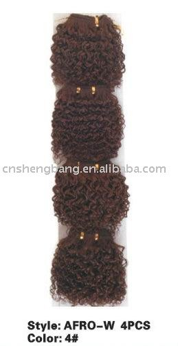 Afro hair curly human hair extension yaki weave afro hair
