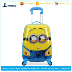 hot selling ABS animal kids luggage trolley bags for school and travel