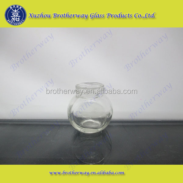 45ml flat drum clear glass candy jar