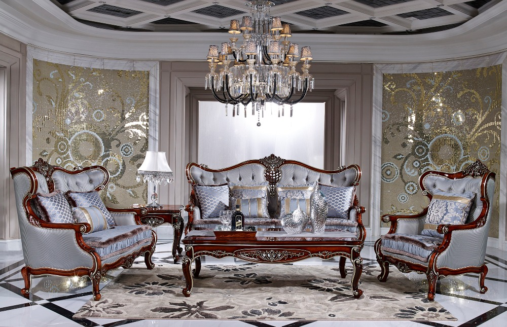 Provide European Style Hand Carved Wood Sofa Set Or One-seat Sofa/Two-seat Sofa/Three-seat Sofa Separately