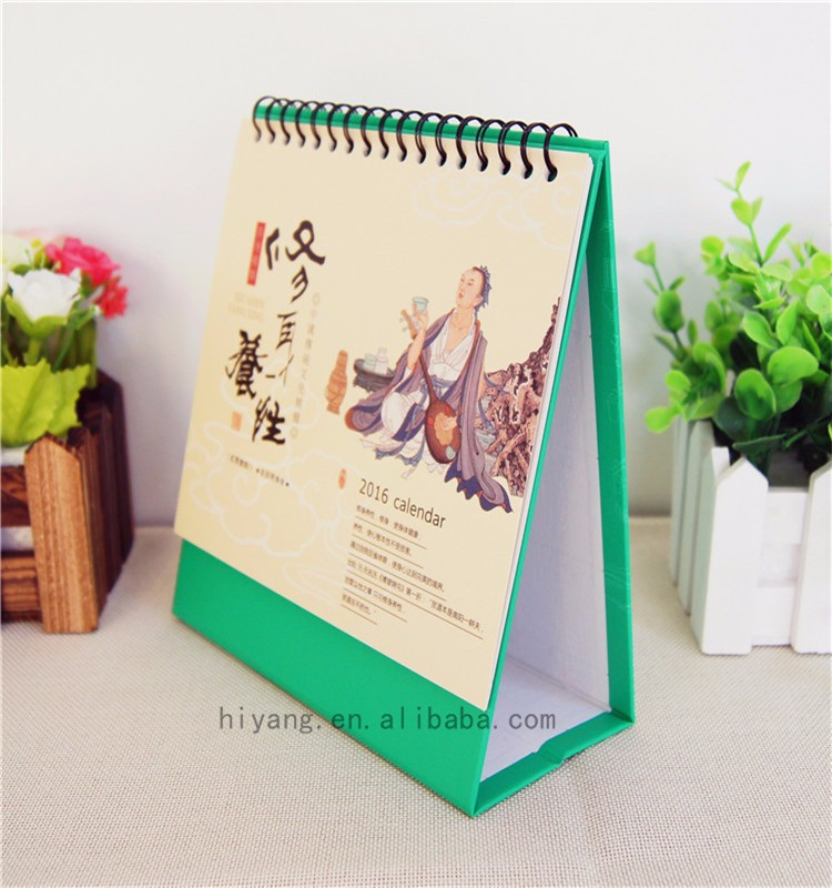 custom handmade desk calendar  , table calendar with logo printing