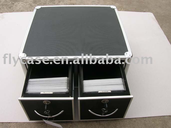 2015 new design aluminum cd case ,DVD carry case ,aluminum CD holder with CD bags