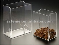 innovative clear acrylic food container or acrylic snack bin