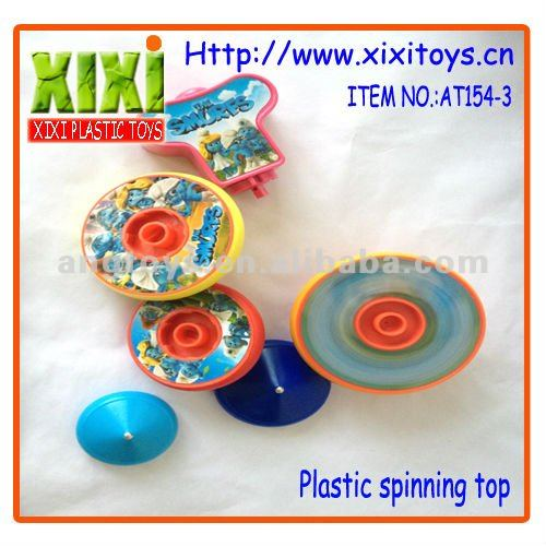6Pcs Kids Plastic Colorful Spin Top Super Spinning Top Toys