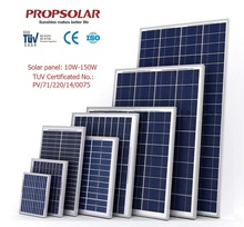 High efficiency small silicon solar panel 50w