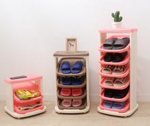 display Plastic Rotary Custom Corner shoe rack for sale Shoe cabinet