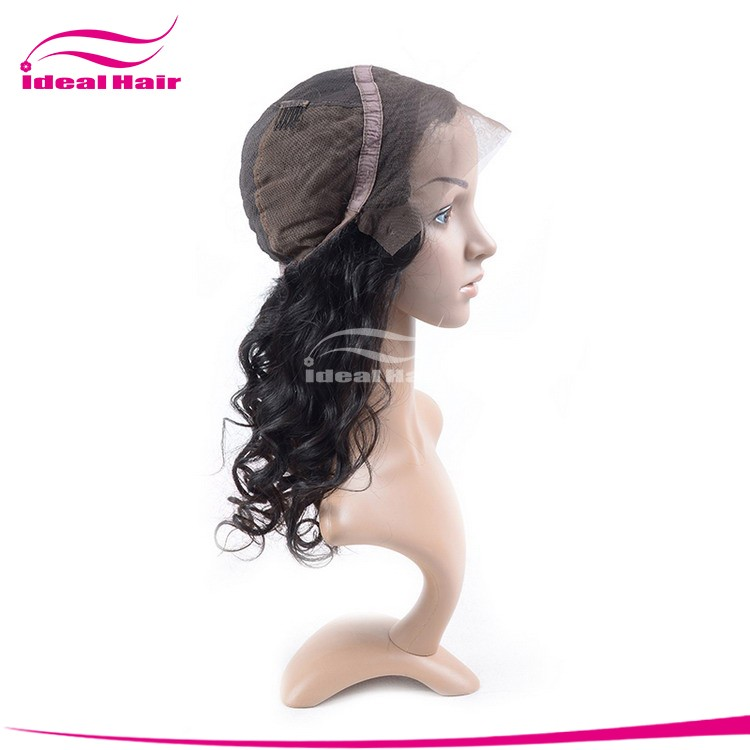 cheap lace wig human hair, indian women hair wig, remy silk base human hair full lace wig with baby hair