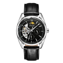 Men luxury brand leather watch waterproof men automatic mechanical watches