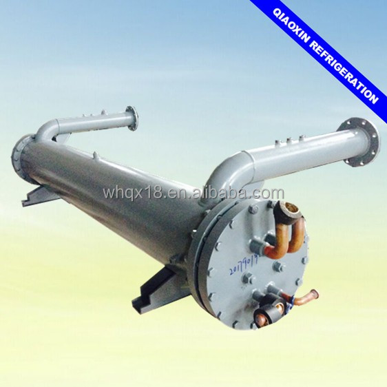 Triple circuit shell and tube evaporator marine generator heat exchanger