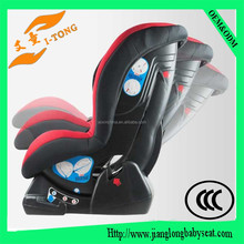 Leather child safety baby car seats which can adjustable incline