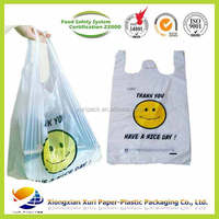 cheap price Plastic Material and Shopping Use T shirt bag