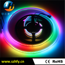 CE ROHS addressable 5050 rgb led strip ws2812 ic built-in DC 5V 144 pixel/m