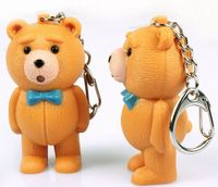 Wholesale teddy bear light emitting voice Led Key Chain