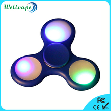 Cheap wholesale hand spinner 3 bar plastic frame LED light fidget spinner