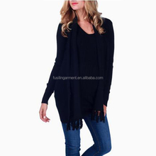 Wholesale branded girls knitted V neck design sexy casual crochet sweater Knitwear