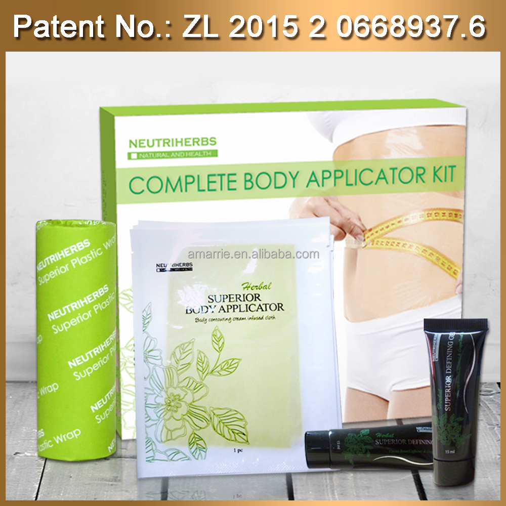 Private label Herbal Body wrap n Slimming Cream fat loss Disposable Herbal seaweed body wrap for