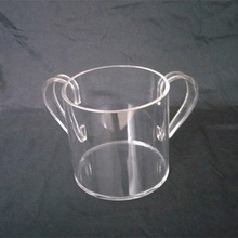 DDW-B041 Trade Assurance Clear Acrylic Cup With 2 Ears