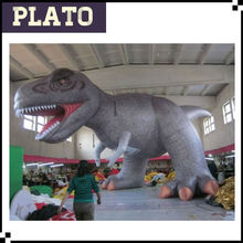 Giant inflate brown dinosaur with Sharp teeth,two leg stand eating dinosaur for theme park promotion