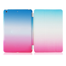Rainbow Hard PC leather Stand Flip Tablet Cover For iPad mini 2 3 4 Air 1 Pro 9.7 12.9
