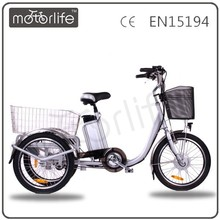 MOTORLIFE/OEM Motorized Cargo Three Wheel Bikes/Motorcycle/Electric Bike 3 Wheel