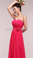 red popular design big yards lace chiffon skirt women chiffon evening dress
